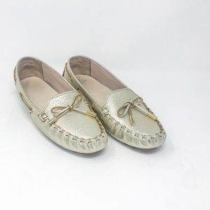Cole Haan Grand OS Metallic Gold Moccasins Size 7B